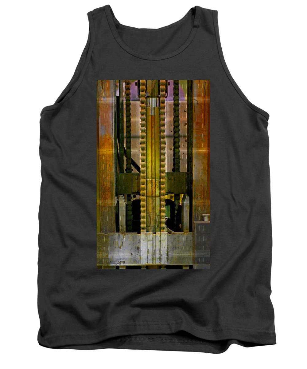 Texture Tank Top featuring the photograph Machina by Skip Hunt