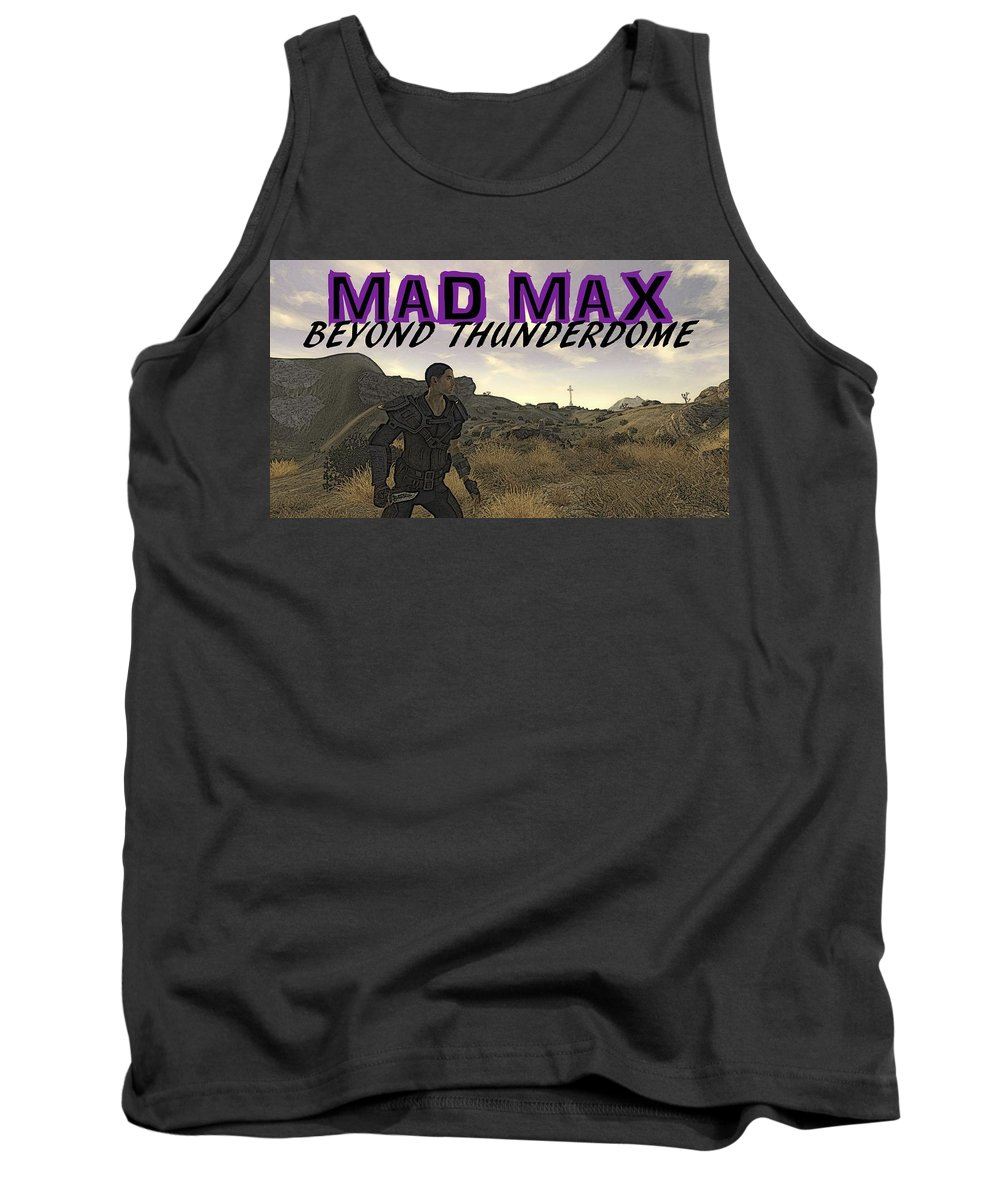 Mad Tank Top featuring the digital art Mad Max Beyond Thunderdome by Paul Pettingell