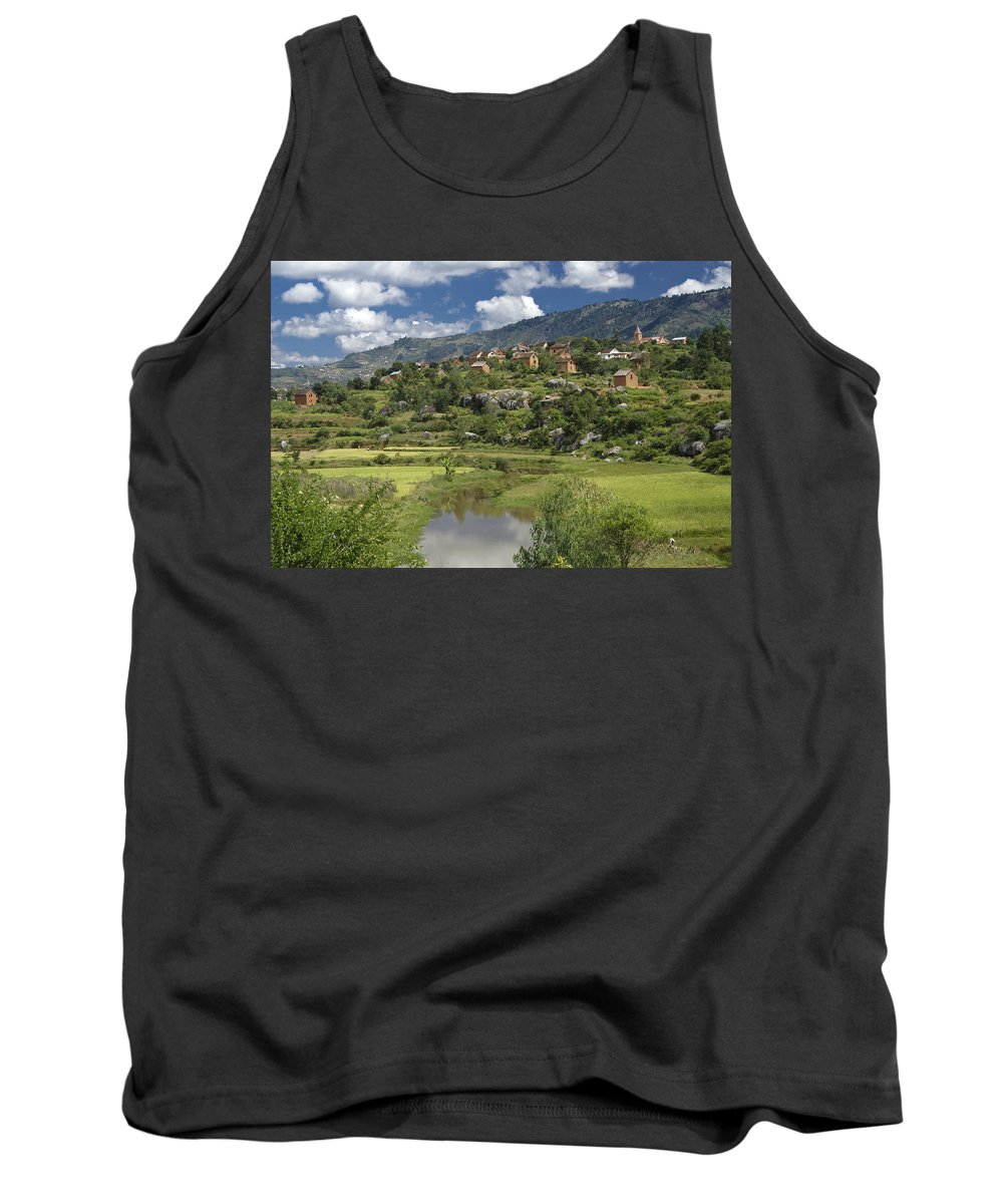 Madagascar Tank Top featuring the photograph Madagascar Village by Michele Burgess