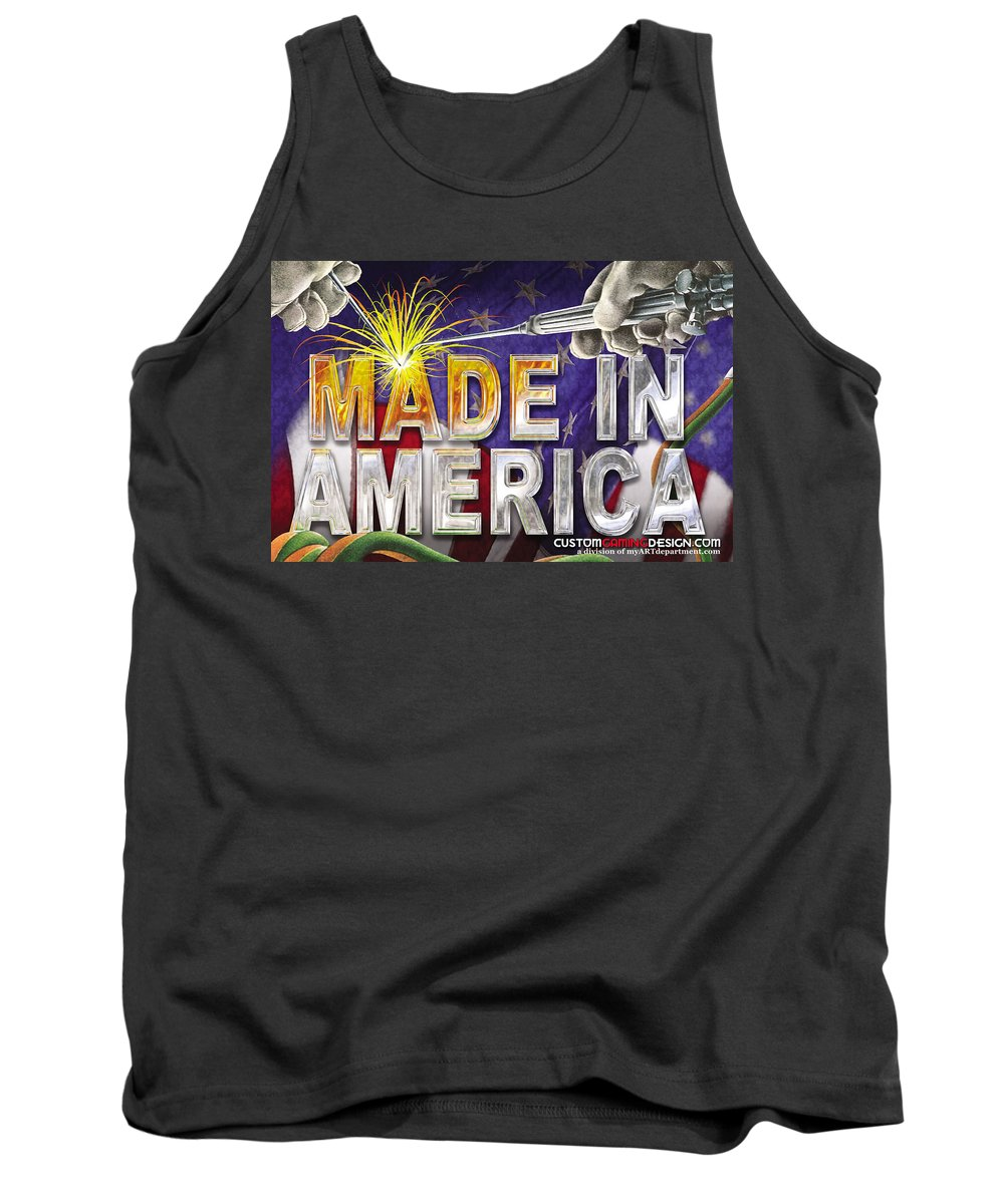 Made In America Tank Top featuring the digital art Made In America by Cindy D Chinn