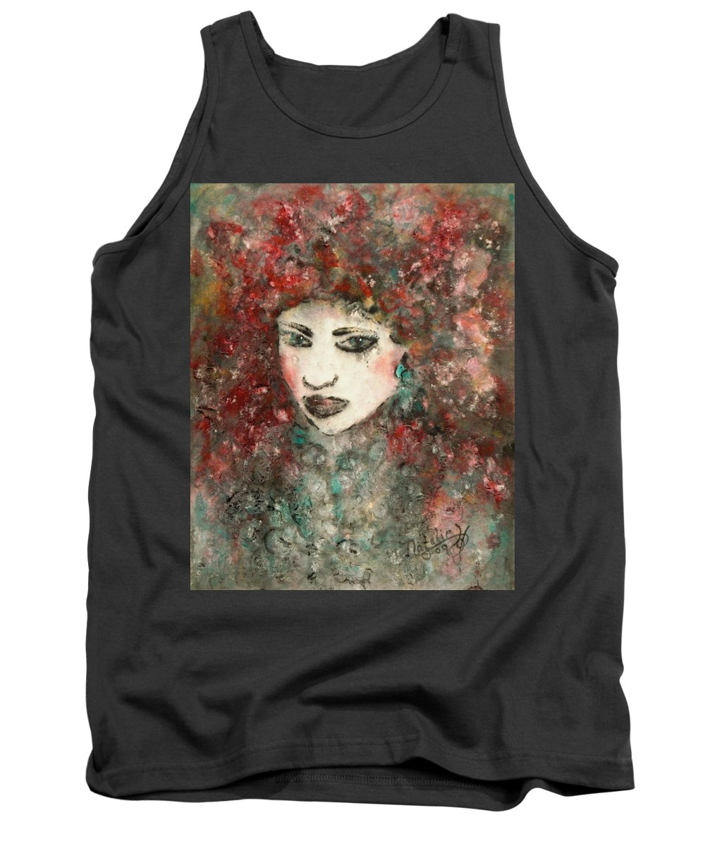 Mademoiselle Tank Top featuring the painting Mademoiselle by Natalie Holland