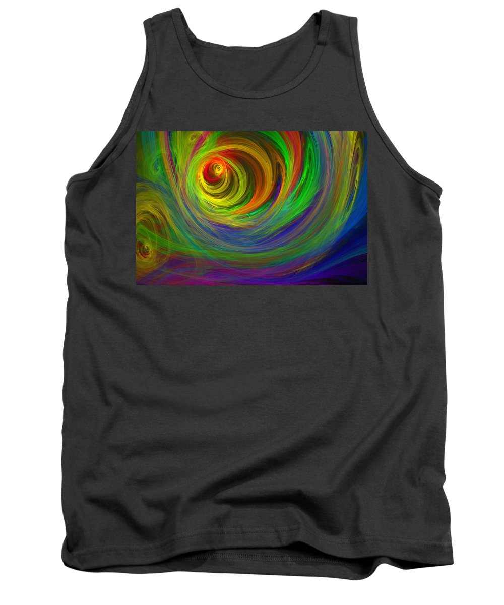 Abstract Tank Top featuring the digital art Madman's Sunrise by Lyle Hatch