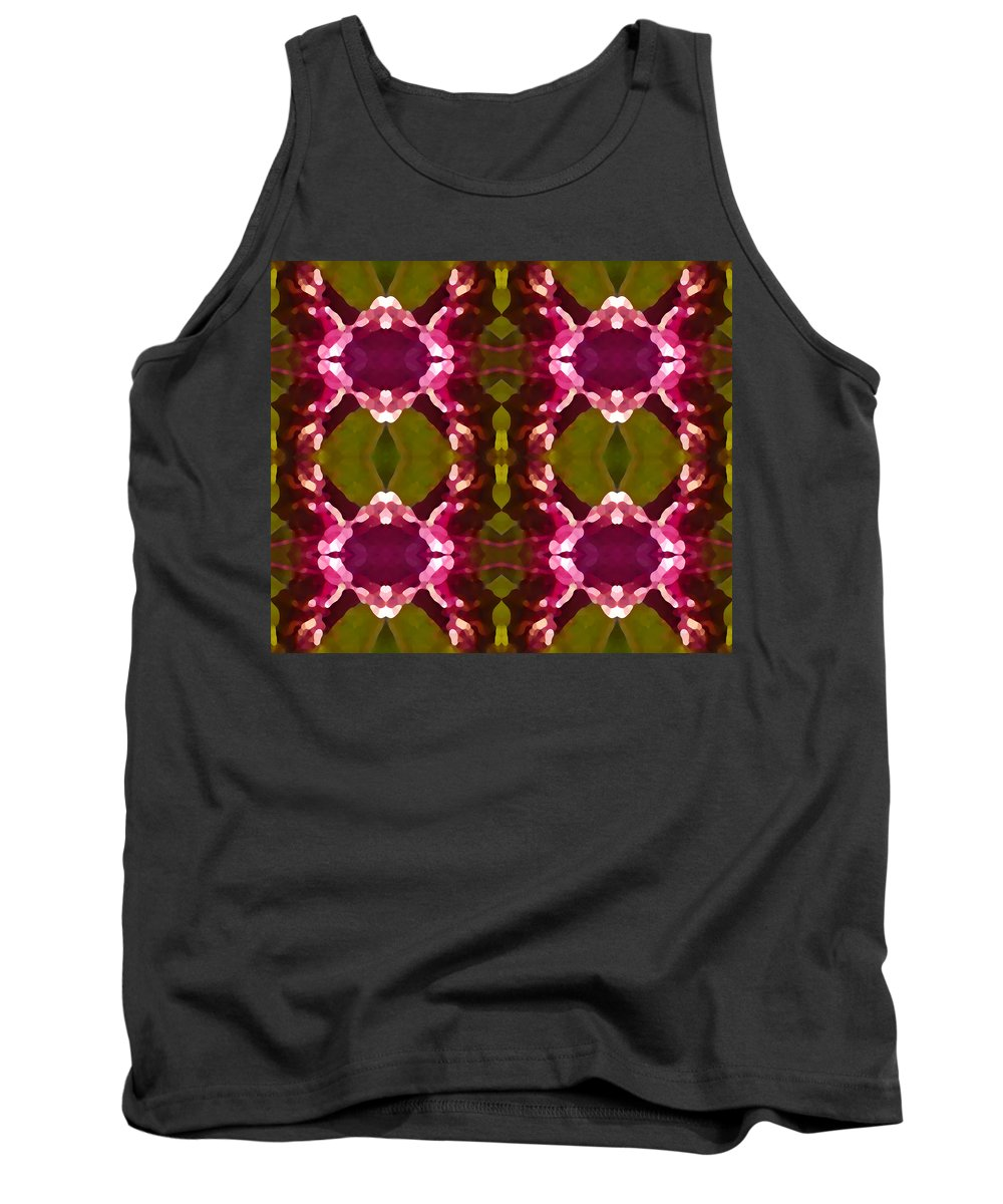 Abstract Painting Tank Top featuring the digital art Magenta Crystals Pattern 2 by Amy Vangsgard