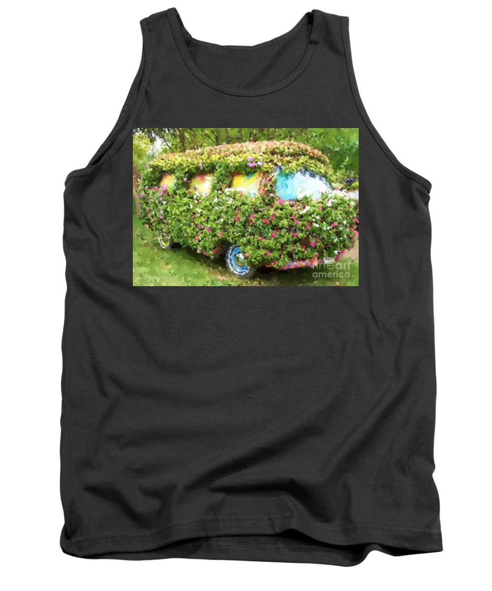 Volkswagen Tank Top featuring the photograph Magic Bus by Debbi Granruth