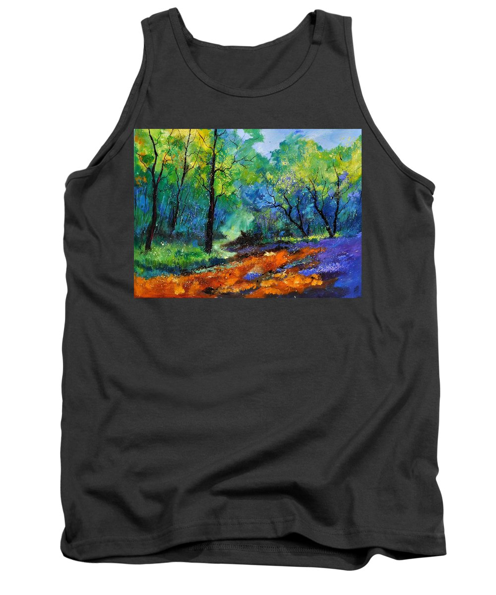 Landscape Tank Top featuring the painting Magic Forest 79 by Pol Ledent