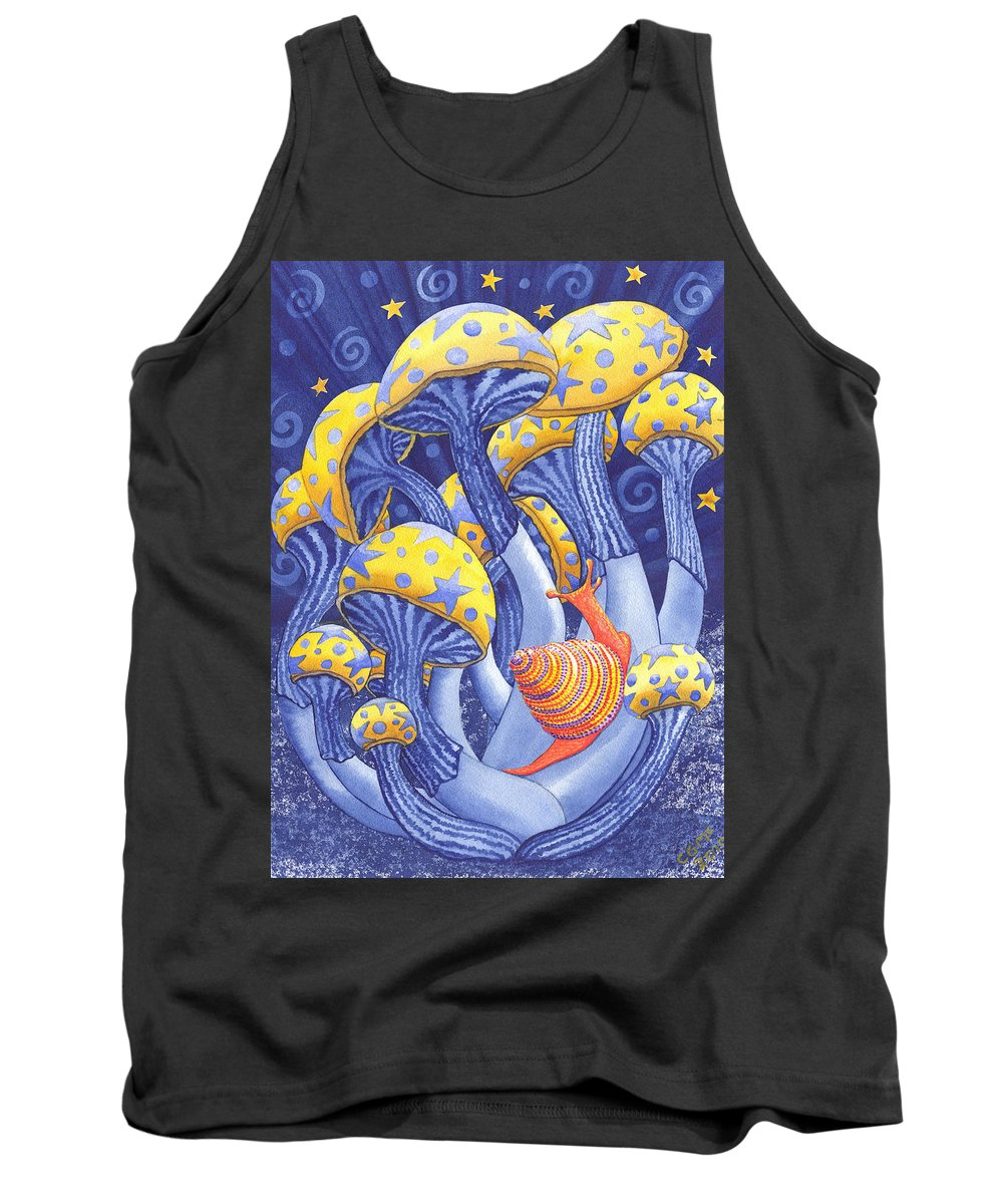 Mushroom Tank Top featuring the painting Magic Mushrooms by Catherine G McElroy