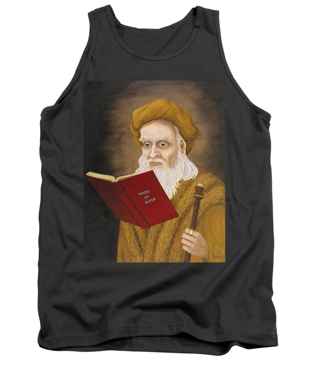 Magic Tank Top featuring the painting Magic of Alton by Roz Eve