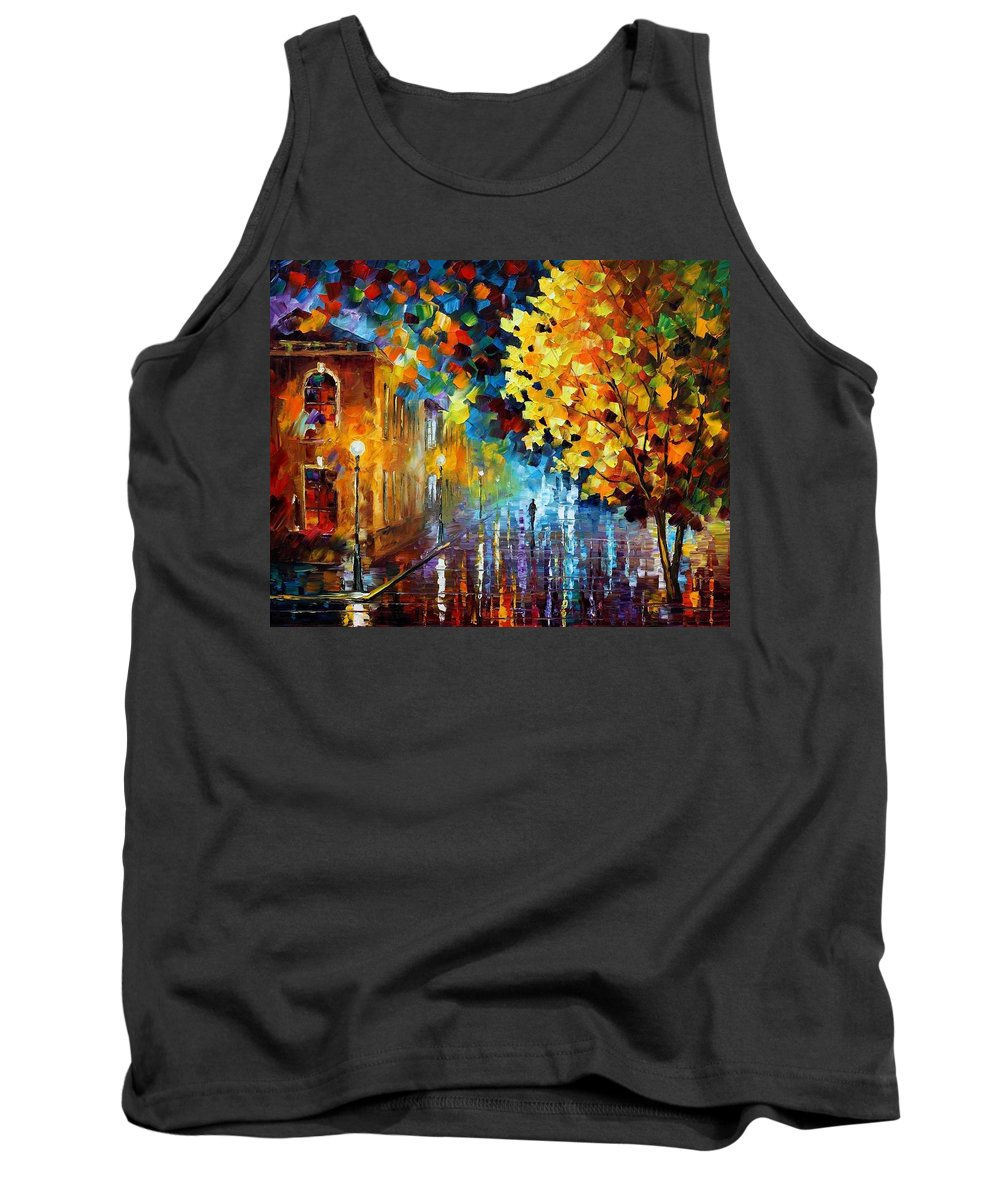 Afremov Tank Top featuring the painting Magic Rain by Leonid Afremov