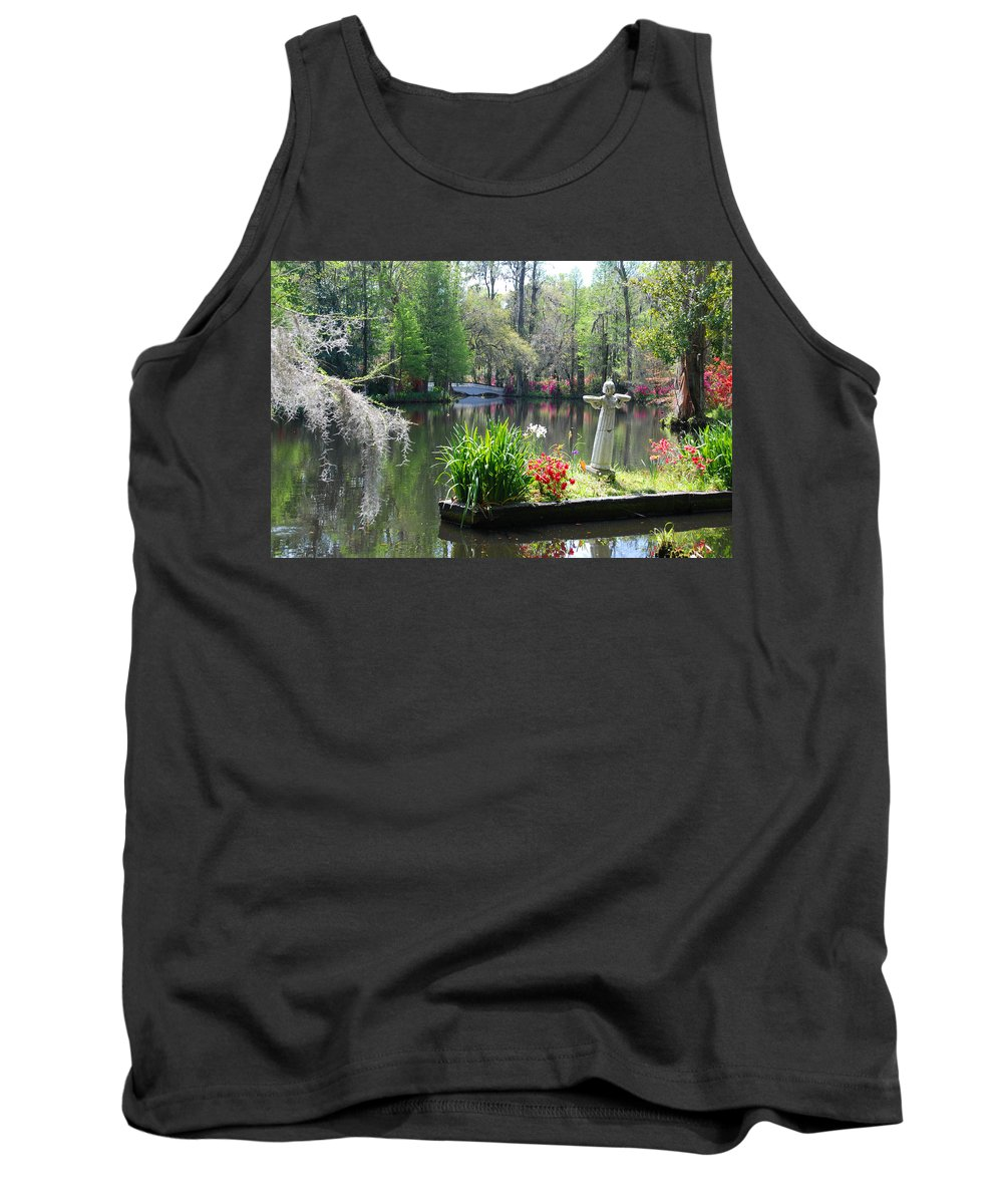 Photography Tank Top featuring the photograph Magnolia Gardens In Charleston by Susanne Van Hulst