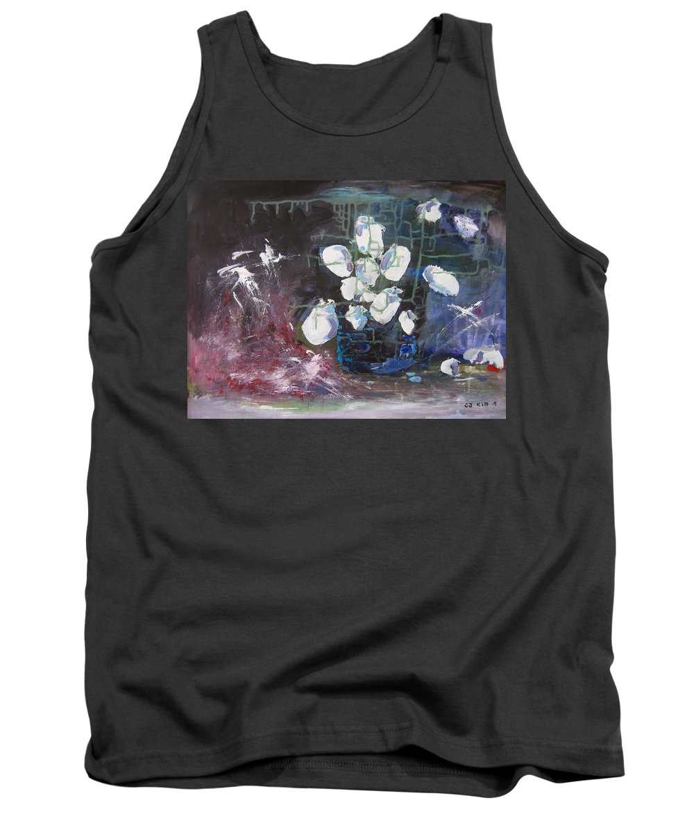 Abstract Paintings Tank Top featuring the painting Magnolia by Seon-Jeong Kim
