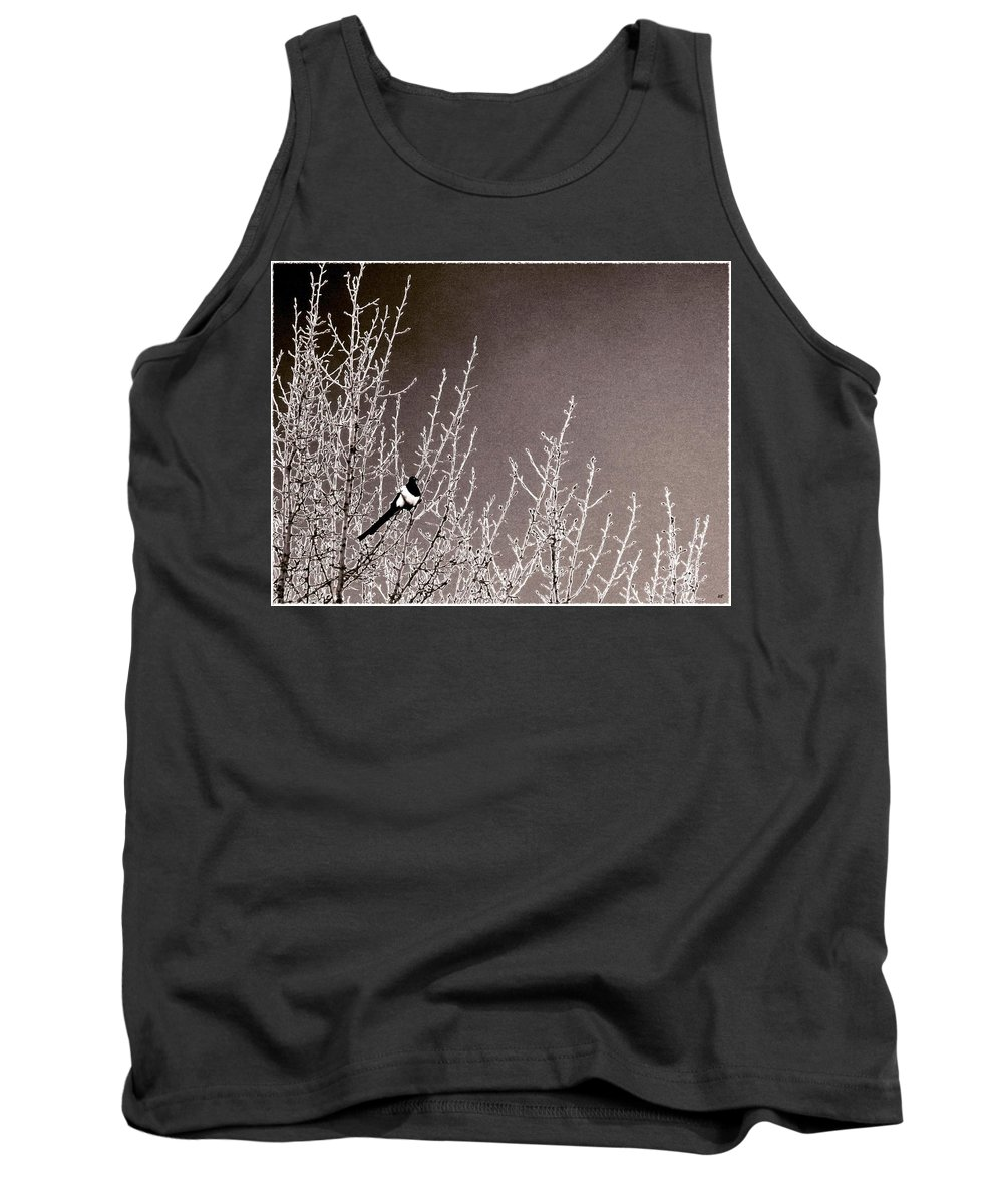 Magpie Tank Top featuring the photograph Magpie by Will Borden