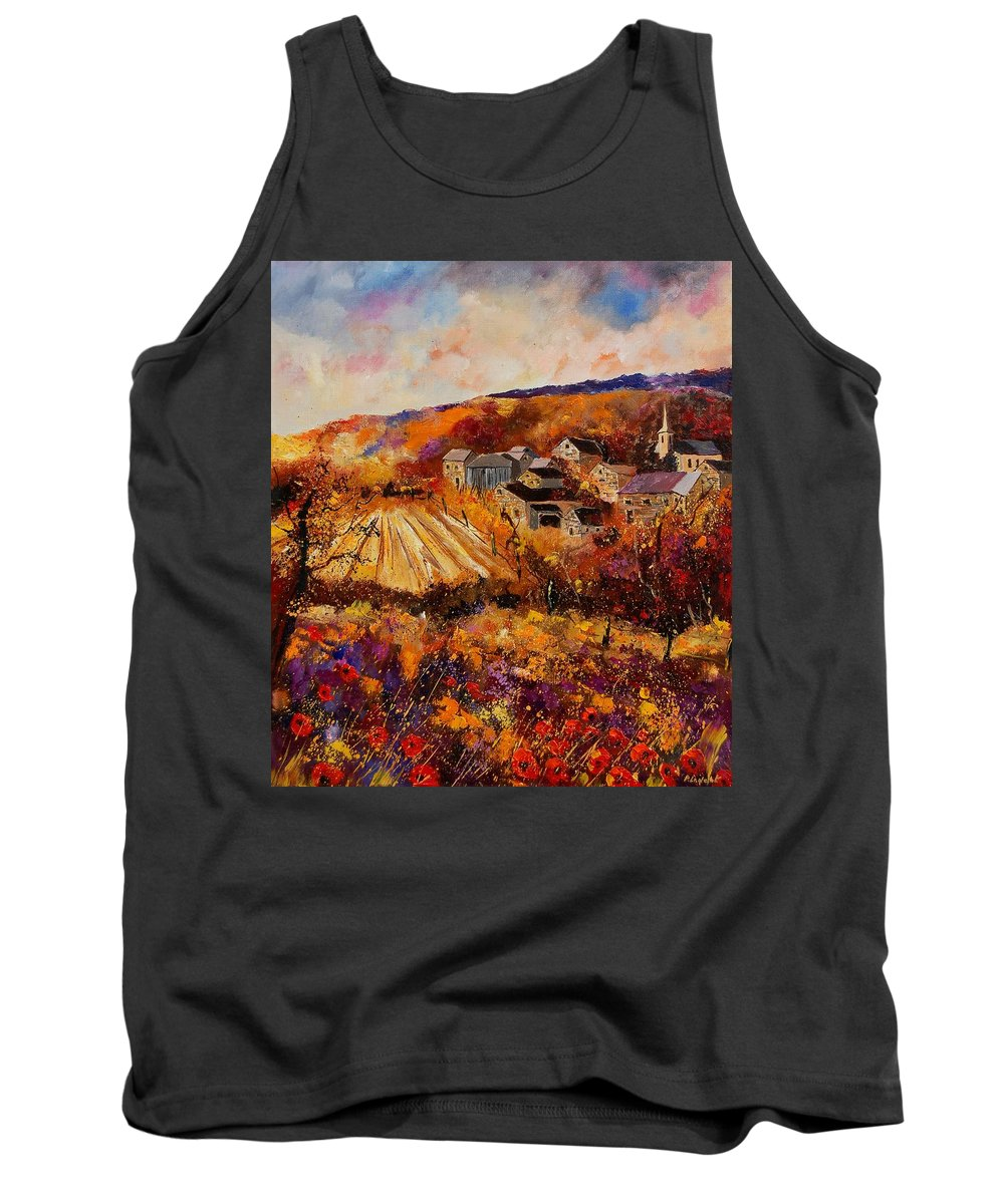 Poppies Tank Top featuring the painting Maissin by Pol Ledent