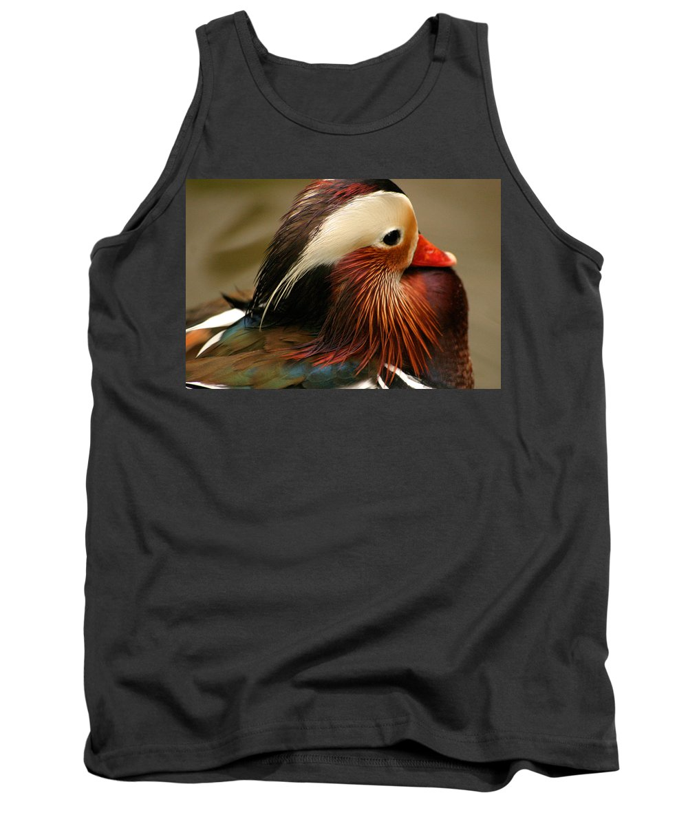 Mandarin Duck Tank Top featuring the photograph Male Mandarin Duck China by Ralph A Ledergerber-Photography