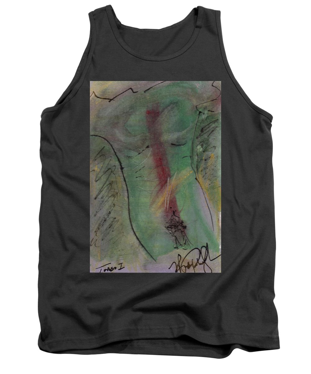 Nude Tank Top featuring the painting Male Nude Torso 1 by Wayne Potrafka