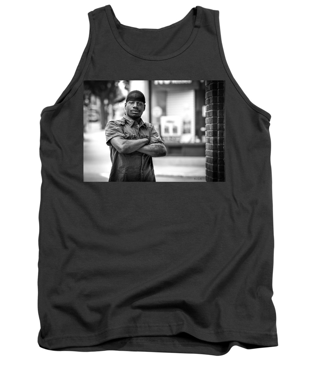 Street Photography Tank Top featuring the photograph Man On The Corner Number 1 by Bob Orsillo