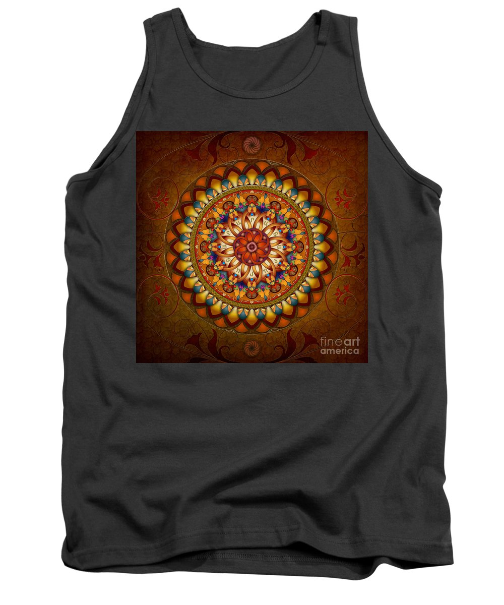 Ararat Tank Top featuring the digital art Mandala Ararat by Peter Awax