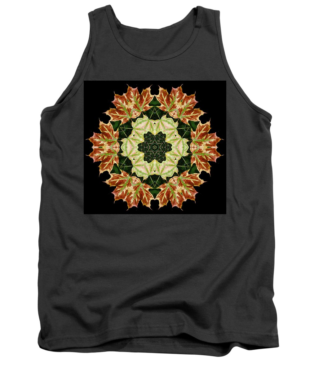 Autumn Tank Top featuring the photograph Mandala Autumn Star by Nancy Griswold