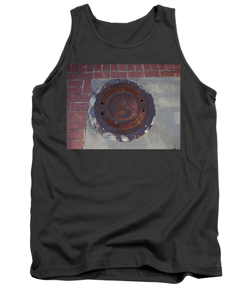 Manhole Tank Top featuring the photograph Manhole II by Flavia Westerwelle