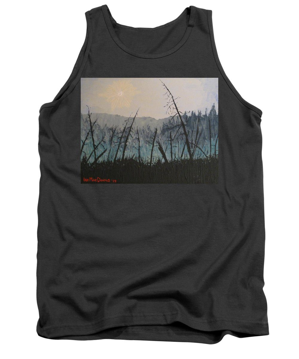 Northern Ontario Tank Top featuring the painting Manitoulin Beaver Meadow by Ian MacDonald