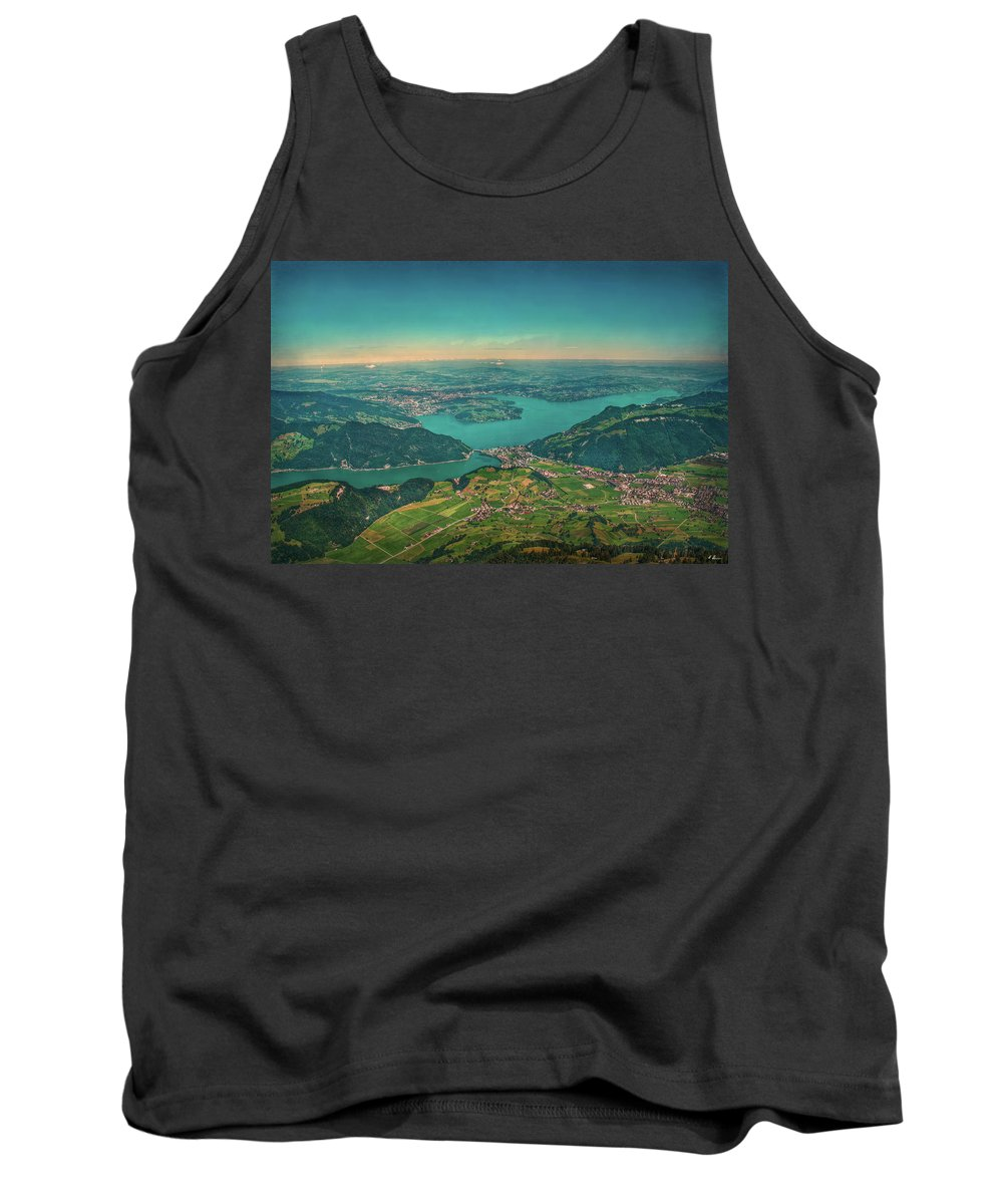 Switzerland Tank Top featuring the photograph Map View by Hanny Heim