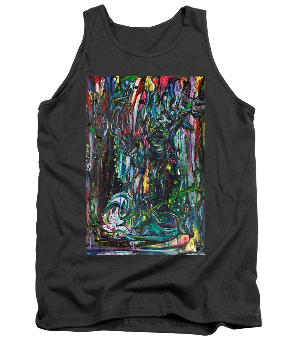 Surreal Tank Top featuring the painting March Into The Sea by Sheridan Furrer