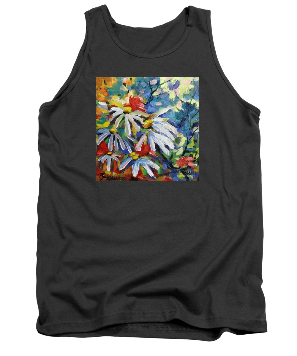 Art Tank Top featuring the painting Marguerites by Richard T Pranke