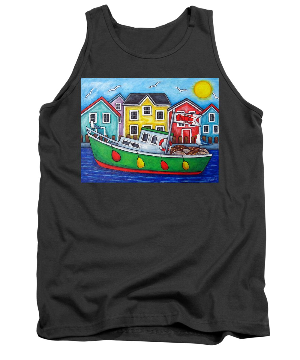 Lisa Lorenz Tank Top featuring the painting Maritime Special by Lisa Lorenz