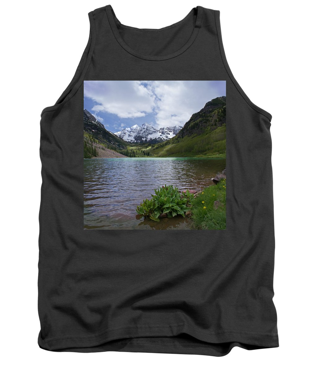 Aspen Tank Top featuring the photograph Maroon Bells Spring by Heather Coen