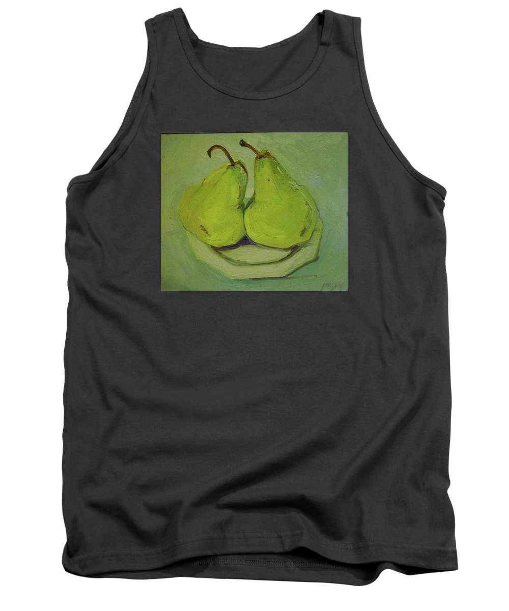 Two Yellow Pears Tank Top featuring the painting Marriage Of The Pears by Pat Gray