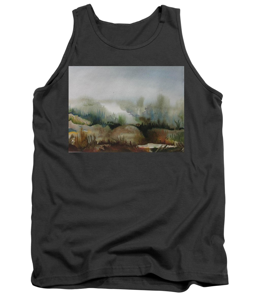 Marsh Tank Top featuring the painting Marsh by Anna Duyunova