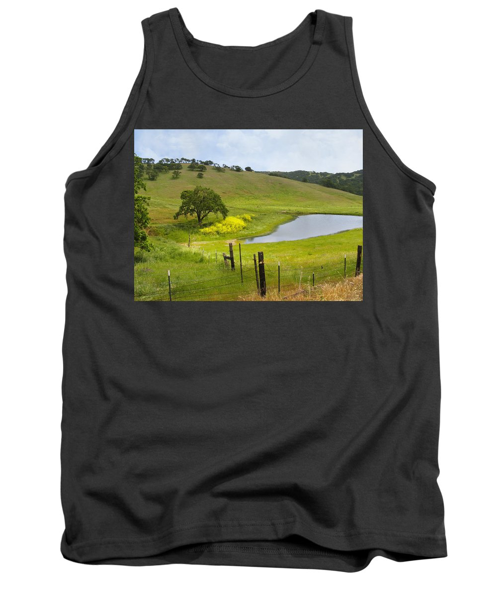 Landscape Tank Top featuring the photograph Marsh Creek Road by Karen W Meyer