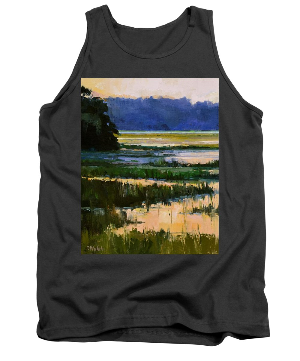 Coastal Life Tank Top featuring the painting Marsh Jazz by Patricia Walsh