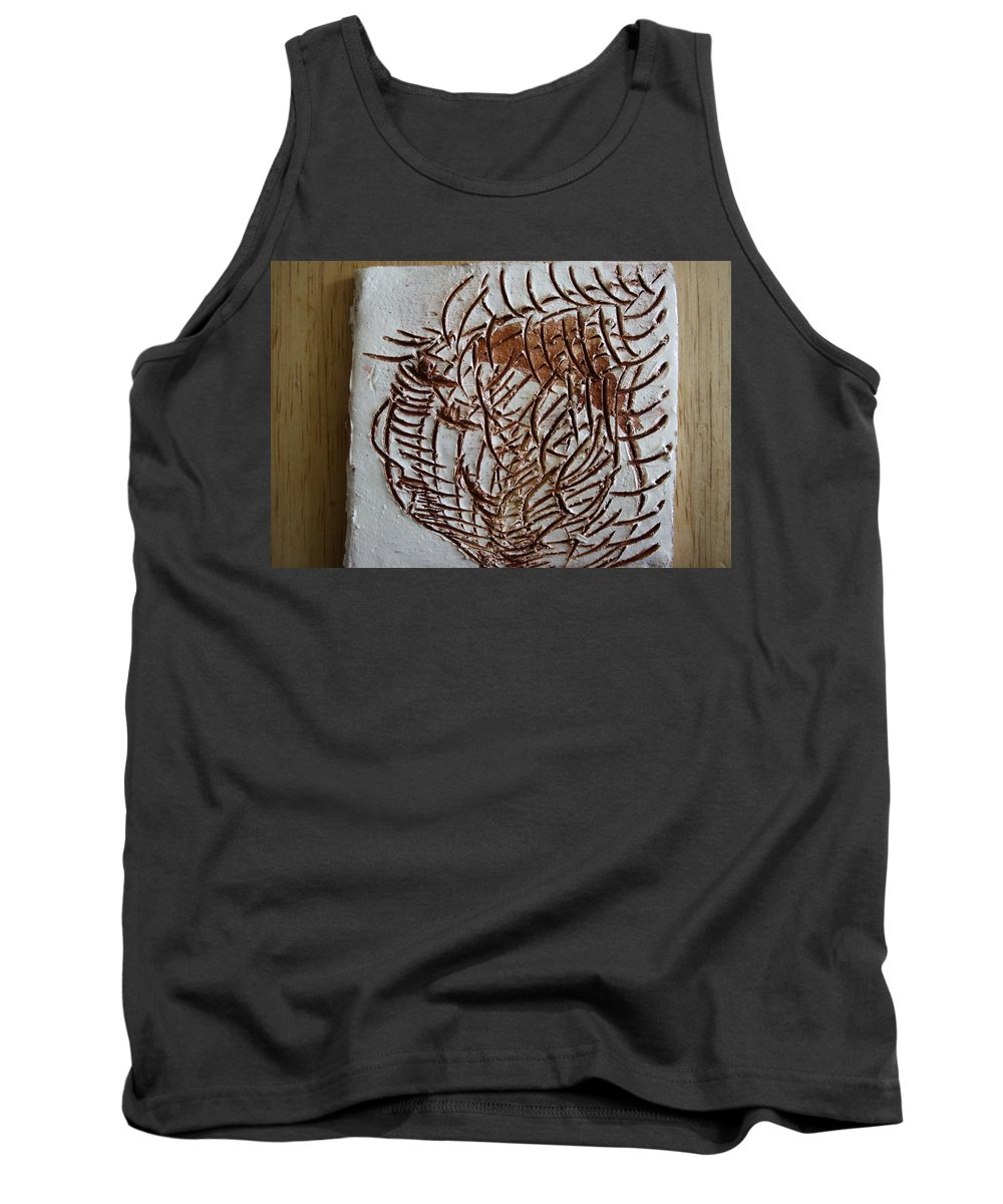 Jesus Tank Top featuring the ceramic art Martha - Tile by Gloria Ssali