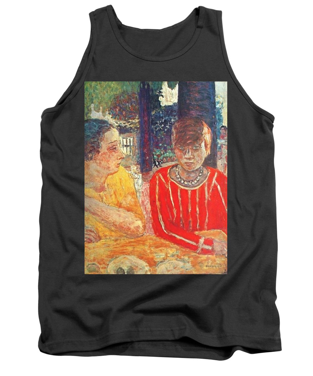 Painter Tank Top featuring the digital art marthe in red blouse c1928 Pierre Bonnard by Eloisa Mannion