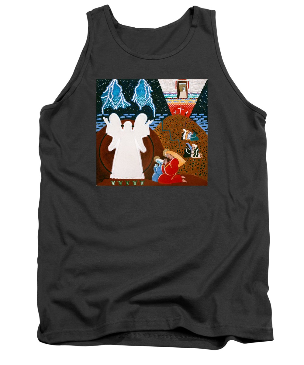 Angel Tank Top featuring the painting Mary Magdalene by Sharron Loree