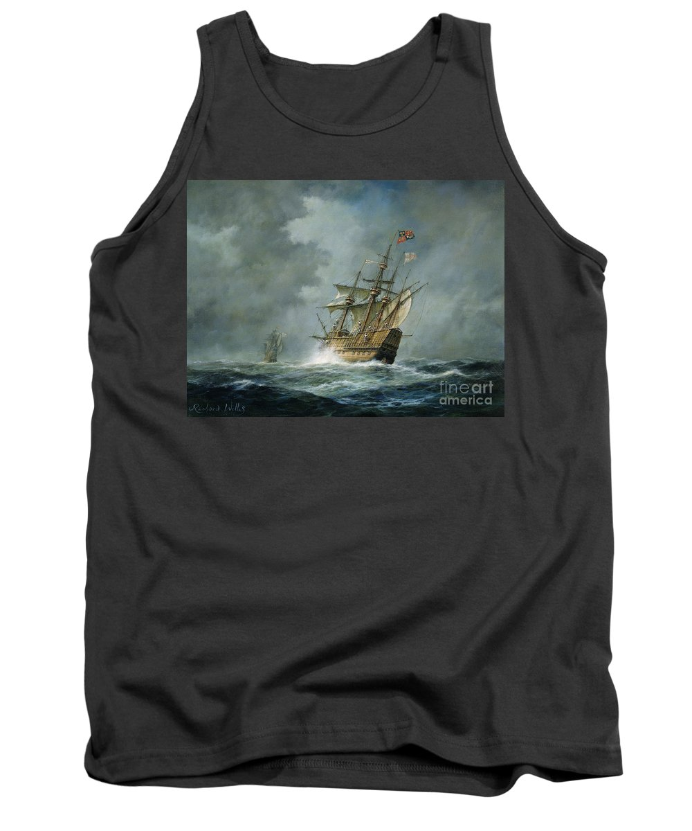 Mary Rose Tank Top featuring the painting Mary Rose by Richard Willis