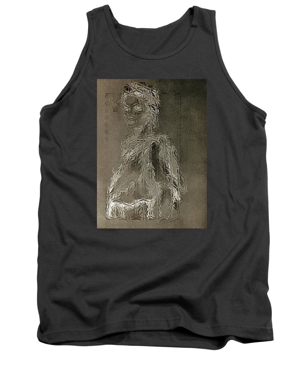 Digital Photo Works Tank Top featuring the photograph Mary Through The Looking Glass by Mario Carini