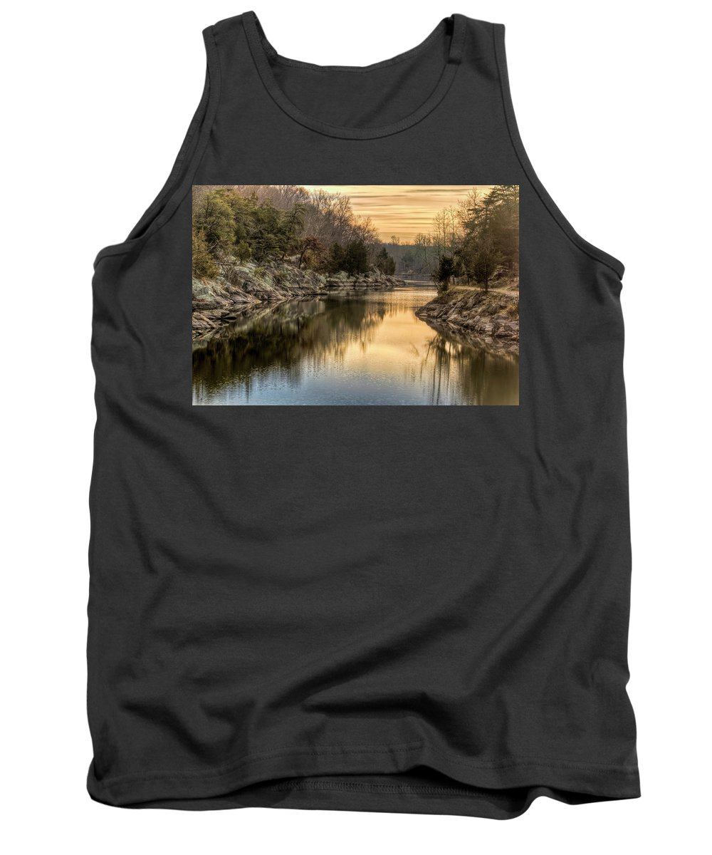 C&o Canal Tank Top featuring the photograph Maryland Canal Sunrise by Francis Sullivan