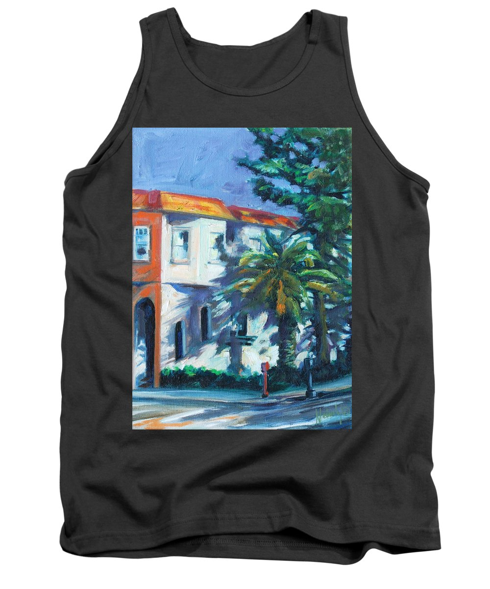 Cityscape Tank Top featuring the painting Masonic by Rick Nederlof
