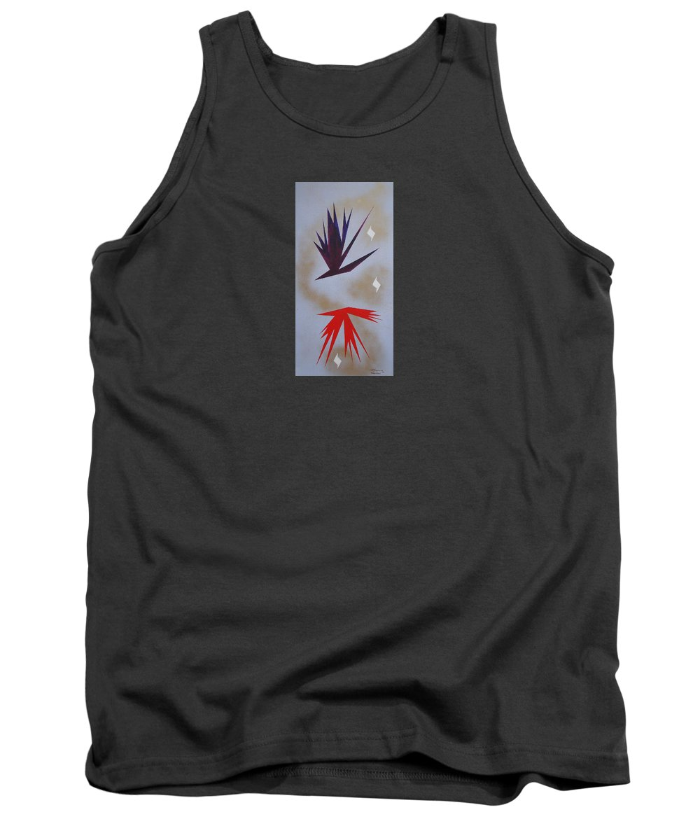 Birds Tank Top featuring the painting Mating Ritual by J R Seymour