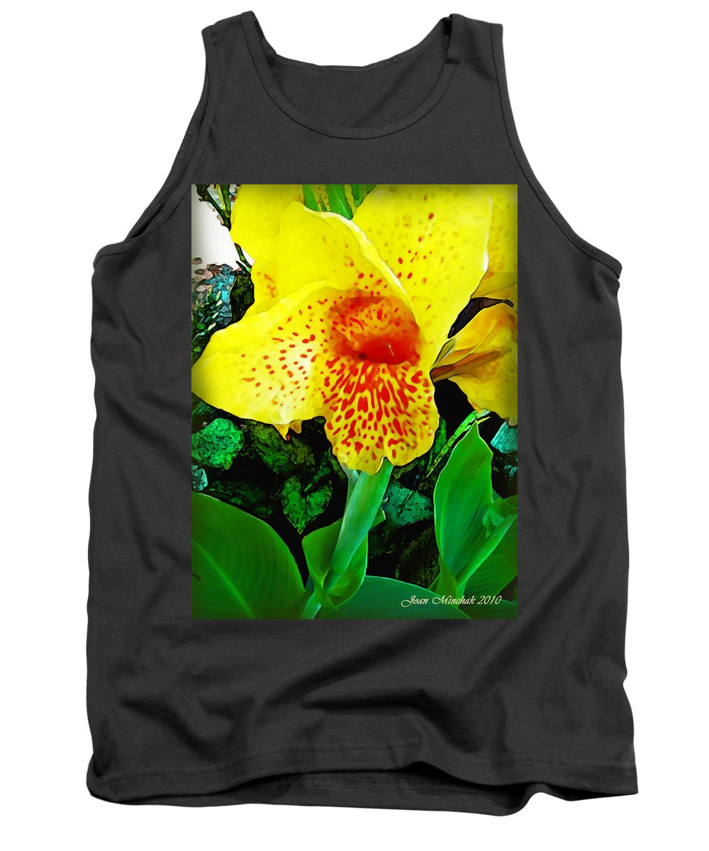 Maui Tank Top featuring the photograph Maui Yellow Floral by Joan Minchak