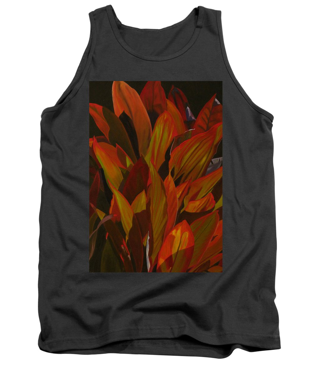 Plant Tank Top featuring the painting May Festival by Thu Nguyen