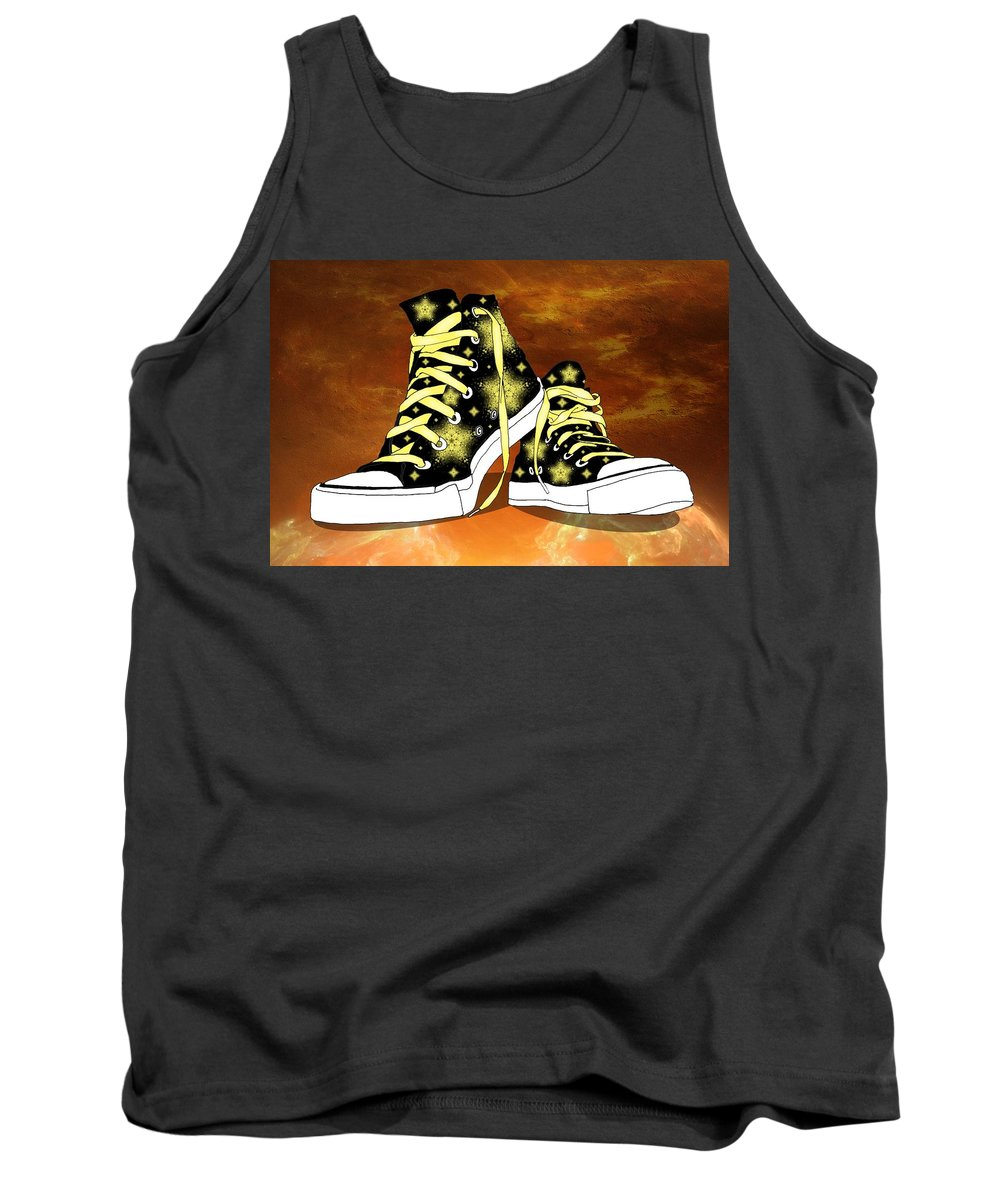 Object Tank Top featuring the digital art May I Converse With You by Davandra Cribbie