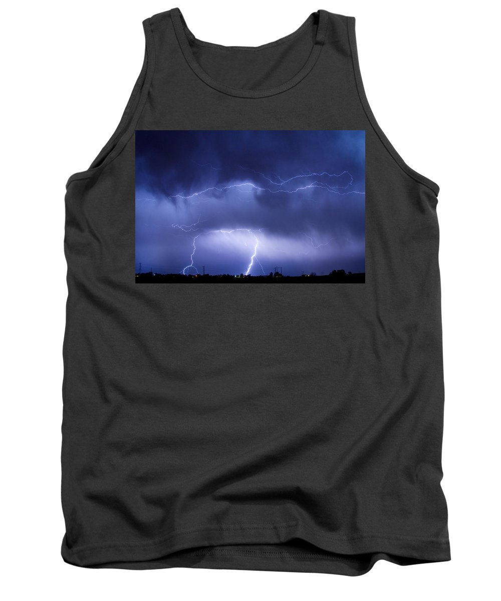 james Insogna Tank Top featuring the photograph May Showers - Lightning Thunderstorm 5-10-2011 by James BO Insogna