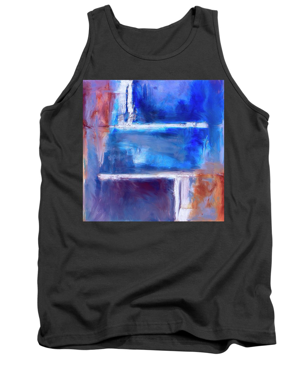 Abstract Tank Top featuring the painting Maze by Dominic Piperata