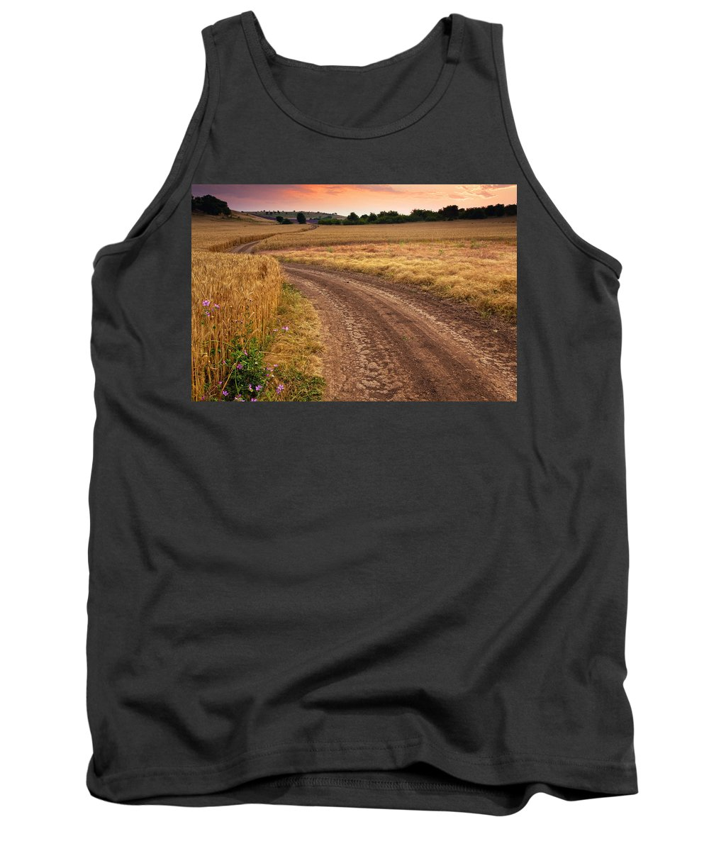 Field Tank Top featuring the photograph Mazzy Road by Evgeni Dinev