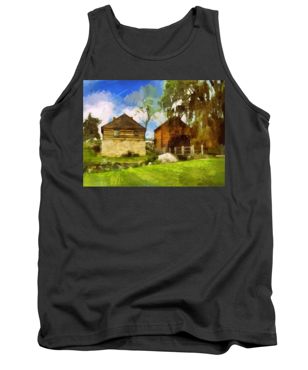 Mccormick Tank Top featuring the photograph Mccormick Mill by Paulette B Wright
