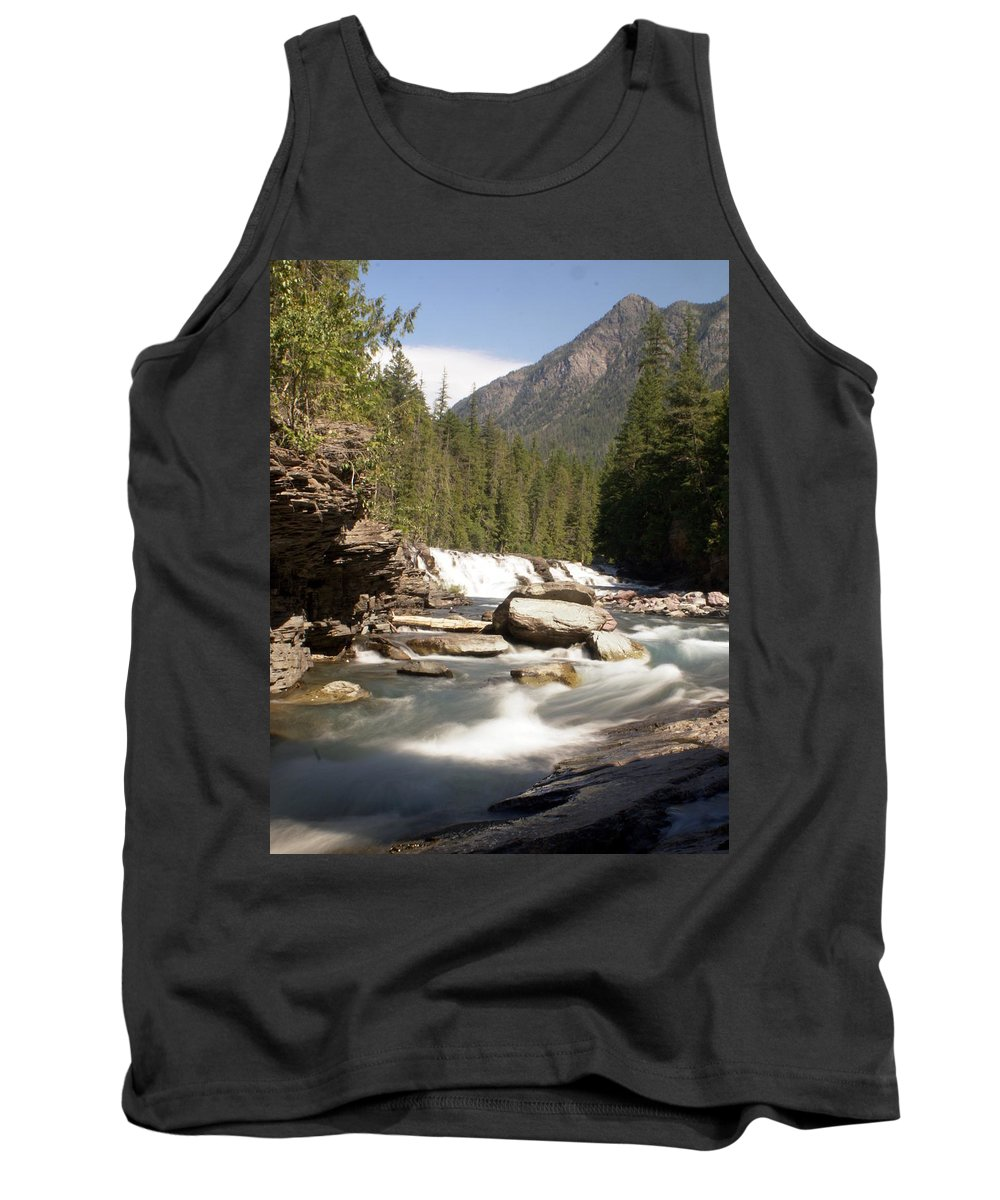 Stream Tank Top featuring the photograph Mcdonald Creek by Marty Koch