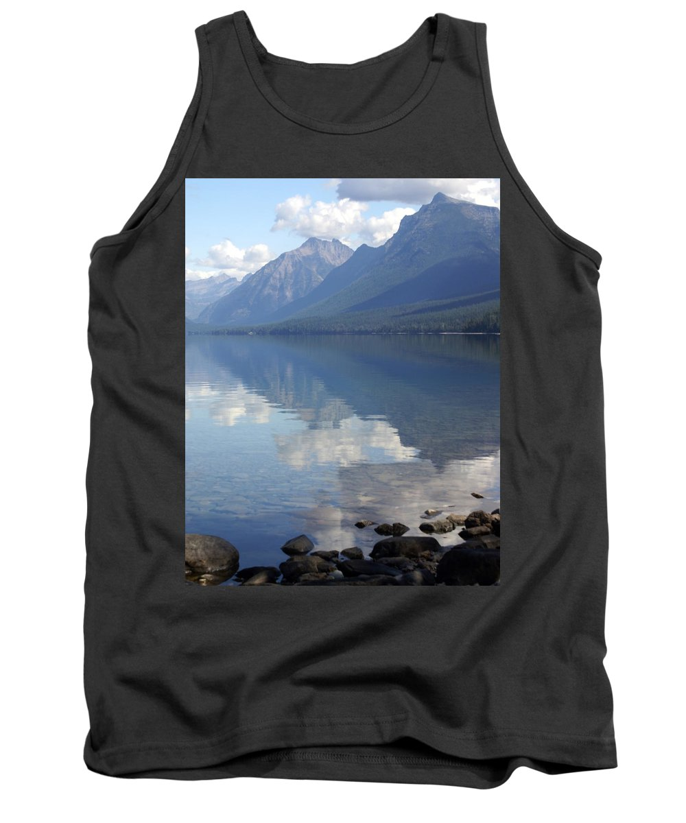 Lake Mcdonald Tank Top featuring the photograph Mcdonald Reflection by Marty Koch