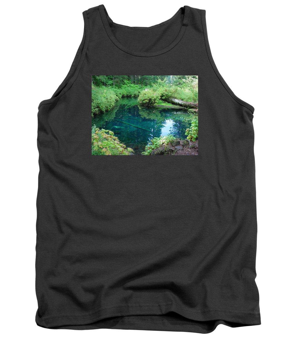 Landscape Tank Top featuring the photograph Mckenzie River, Oregon by Val Conrad